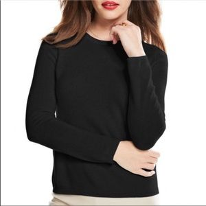 Charter Club Cashmere Crew Neck Sweater Black